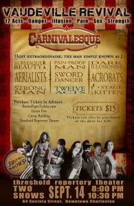 Carnivalesque Vaudeville Revival Sept 14th